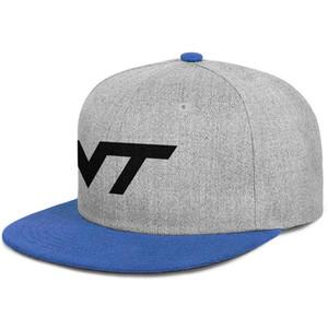 Virginia Tech Hokies Football black logo mens and women snap back baseballcap custom design your own Hip Hopflat brimhats Flag Black Red