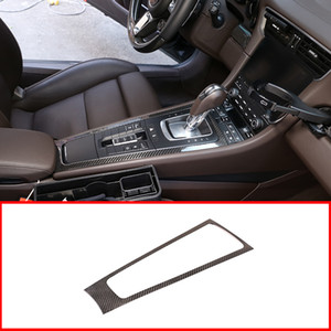 For 911 2013-2018 Real Carbon Fiber Center Console Gear Shift Decoration Frame Trim Accessories For 718 2016-2019