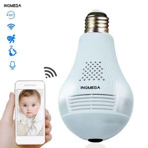 2019 INQMEGA 360 Derece LED Işık 960 P Kablosuz Panoramik Ev Güvenlik Güvenlik WiFi CCTV Balıkgözü Ampul Lamba IP Kamera İki Yolları Ses
