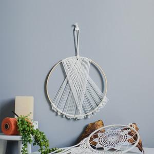 Macrame Tecelagem Tapeçaria enfeites artesanais Boho Chic Dreamcatcher DIY Home Living Room Decoration
