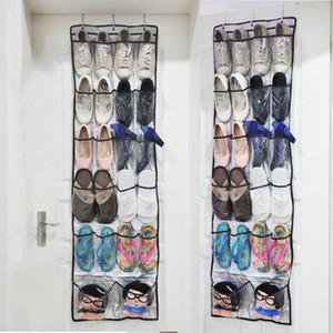 Scarpe pieghevoli Organizer Borse Scarpe Rack immagazzinaggio dietro porta appesa Scarpe titolari tessuto di memorizzazione non Bag con ganci DH0964