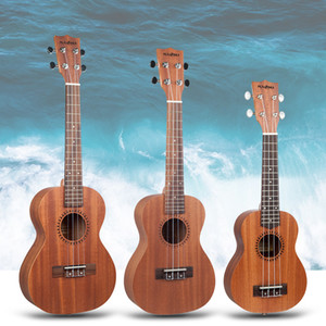 NAOMI Soprano / Concert / Tenor Sapele Ukulele Hawaii guitarra acústica Cutaway guitarra W Gig Bag /