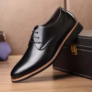 New Black Brown Fashion Men Casual Pointed Top Formal Business Male Wedding Dress Flats Oxfords Men Leather Shoes jkm89