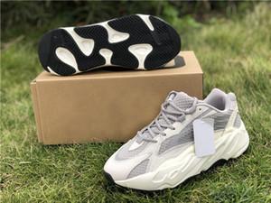 2019 Los mejores originales auténticos 700 V2 estático 3M reflectante Vanta Wave Runner gris sólido Kanye West hombre mujer zapatillas zapatillas de deporte EF2829