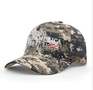 Donald Trump 2020 Baseball Cap embroideried Make America Great Again hat camouflage Camo USA Flag outdoor letter sports cap DC773