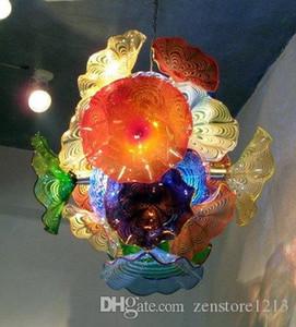 إيطاليا مصممة يدويا في مهب زجاج مورانو LED الفن الثريا الخفيفة مع لوحات الزجاج للمنزل فندق مدخل ديكور