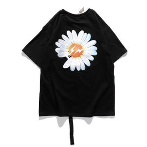 Casual mens T-shirts summer tide brand star pmo comeback Fujiwara joint tide brand small daisy loose oversize short-sleeved T-shirt242