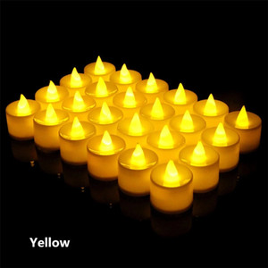 LED Tea Lights Flameless Votive Tealights CandleBulb light Small Electric Fake Tea Candle Realistic for Wedding Table Gift