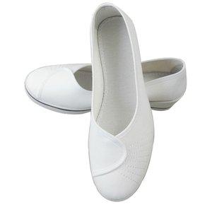 New Style Old Beijing Plaza de zapatos para mujer Zapatos blancos para mujer Enfermeras Trabajar zapatos casuales Danza Canvas Cuña Tacones
