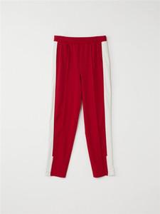 Calças retas calças Masculino Primavera do outono com Zipper Fashion Designer Ins Hip Calças Pop Mens AWT Paneled