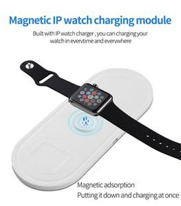 Nuevo Productos innovadores inalámbrico cargador de logotipo adsorción magnética 3 en 1 soporte inalámbrico cargador para el teléfono elegante reloj Smart Watch