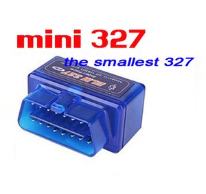 100 PC 미니 ELM327는 작은 파란색, ELM327 블루투스 OBD-II 무선 트랜시버 동글 2.1을 ELM327