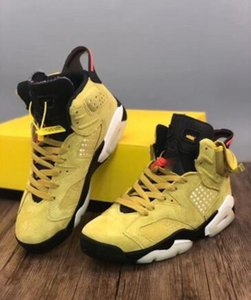 Travis Scott x 6 Houston Yellow Cactus Jack Herren-Basketball-Schuhe Designer 6s Sports Turnschuh-Trainer-Turnschuhe