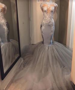 Саудовская Аравия Платья Высокий воротник Mermaid арабские платья выпускного вечера 2020 Платье De Noche Elegante Русалка Длинные рукава Формальные Вечерние платья