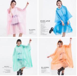 PEVA Impermeabili non monouso ispessite cappotto mantello Pioggia E-friendly poncho impermeabile favore LJJA3839 Esterni lungo indumenti impermeabili del partito