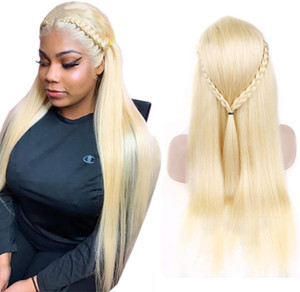 613 Blonde Lace Front Wig Straight Honey Blonde Human Hair Wigs for Women Pre Plucked with Baby Hair 150% Density
