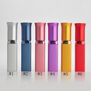 6 ml portátil de alumínio Frasco de perfume com perfume Atomizador Mini recarregáveis viagem pulverizador vazio vidro Parfum Caso EEA1209-8
