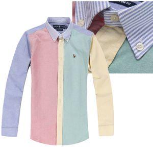 2020 Poloshirt Katı Polo Gömlek Erkekler Lüks Polo Gömlek Uzun Kollu Erkek Temel Top Pamuk Polos için Boys Marka Tasarımcı Polo Homme ekose