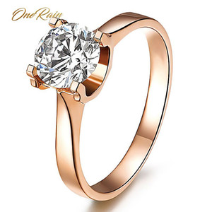OneRain Classic 925 Sterling Silver Created Moissanite Gemstone Engagement Rings Wedding Band Jewelry Gifts Wholesale 5-12