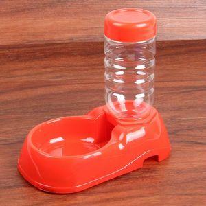350мл Автоматическая Питание воды Pet Feeder Пластиковые Корм для собак чаша воды Диспенсер для собаки кошки собаки Пьющий зоотоваров