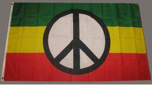 Раста символ мира флаг зеленый желтый красный флаг баннер 3x5 футов полиэстер напечатал новые 90*150 см летающие висячие флаги