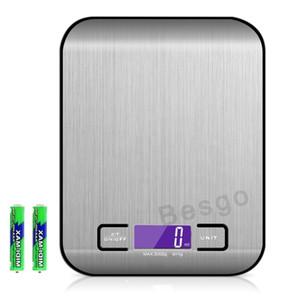 5000g / 1G LED électronique numérique Balances de cuisine multifonctions alimentaire échelle LCD en acier inoxydable de précision bijoux Balance poids balance BC BH2897