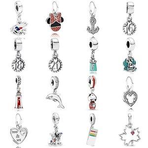 NEW 2019 100% 925 Sterling Silver Pandora Friends Vintage Ticket Maple Leaf Frog Pendant Fit DIY Original Women Bracelet Jewelry Gift