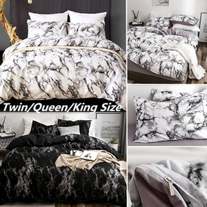 Marble Pattern 3D Bedding Set  Wrinkle Free Duvet Cover Set with Pillowcase Polyester Comforter 2/3Pcs Queen King Size