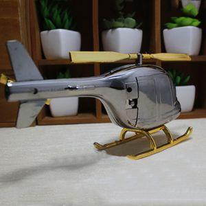 Creativa Cafetería modelo de helicóptero relojes de mesa decoración retro aleatoria de Reloj Patrón Enviar relojes de alarma alarma de la decoración del hogar DH0811 T03