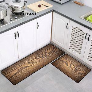 Holzmaserung rutschfeste küche matte lange bad carpet moderne eingang fußmatte tapete saugfähigen schlafzimmer wohnzimmer bodenmatte