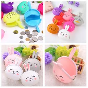 Monedero de la moneda de silicona lindo dibujos animados conejo niño monedero monedero mujeres niñas pequeña billetera mini bolso llave kawaii bolsa T2D5064
