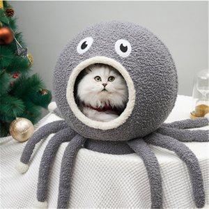 2019 Hot Sell Estilo Octopus Forma casas do gato adorável fechado Caverna Design Profundamente Cat sono ninho quente Conveniente Limpeza Cat House