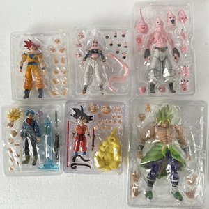 SH Figuarts SHF Dragon Ball Figura Anime Majin Bu Vegeta Android Trunks Super Saiyan Goku Son Goku Broly Action Figures Toy Y200421