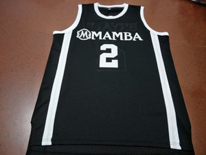 Özel Erkekler Gençlik kadınlar Nadir yuvarlak boyun 2. Mamba Gigi K B Koleji Basketbol Jersey Boyut S-4XL veya özel herhangi bir ad veya numara forması