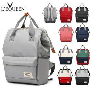 LEQUEEN Mummy Backpack Zipper Diaper Baby Bag Large Capacity Travel Maternity Bag Multifunctional Nursing Backpack Baby Care