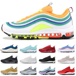 97s 2019 LONDON SUMMER OF LOVE scarpe da corsa per uomo donna triple nero bianco Mint Green gold bullet uomo sneakers sportive sneakers taglia 36-45