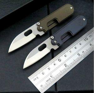 고품질 서지 콩 S35VN 100 % 61HRC 사람 1PCS ADMI 접이식 선물 나이프 키 체인 블레이드 티타늄 핸들 주머니 칼을 stonewashed