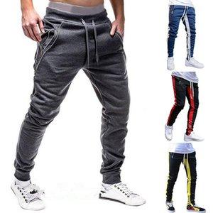 Male New Fashion Hip Pop Pants Men Sweatpants Slacks Casual Elastic Joggings Sport Solid Baggy Pockets Trousers Size M-3XL