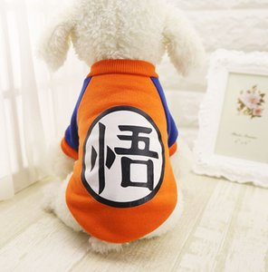 Perro pequeño Ropa para mascotas Dragon Ball Goku Suéter Camisetas Ropa de abrigo Traje Ropa para perros Juego de perros Mascota para Chihuahua
