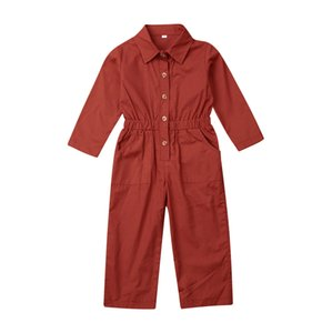 Newest Arrival 1-6T Kids Baby Girl Boy Long Romper Clothes Autumn Clothes Long Sleeve Romper Jumpsuit Overalls Outfit