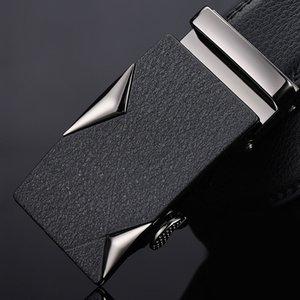JIFANPAUL cuir hommes ceinture alliage noir tendance automatique boucle jeune personnalité authentique peau de vache hommes simple ceinture d'affaires
