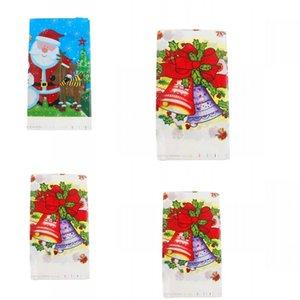 Pearlescent 필름 일회용 식탁보 크리스마스 테마 작은 벨 패턴 테이블 커버 파티 장식 테이블 천으로 창조적 2 2hy L1