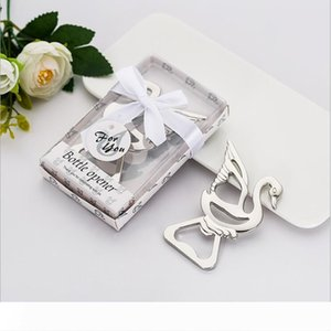Party Favors Baby Shower Souvenirs Little Swan Bottle Opener Personalized Present Alloy For Wedding Giveaway Gift Free Shipping