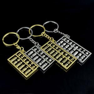 Abacus брелки 6 файлов 8 файлов abacus металлический брелок золото серебро счеты брелок кулон модные аксессуары ZZA885