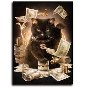 5Д формата DIY алмазная живопись состояние кошки Вышивка Крестом искусства вися декор Б7