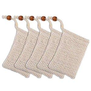 Soap Borse Cotone Lino Sapone Saver Handmade Soap Bubble Fibre Net Mesh Bag Pouch esfoliante vegetali ecologici naturali DHD73