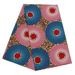 2019 Vêtements Tissu Ankara Cire Polyester Afrique Tissu Prints Binta Véritable WAX de haute qualité 6 cour tissu africain pour robe de soirée PL536