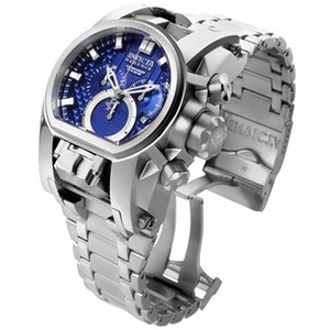 U1 Factory Wholesale Men INVICTA Watches Fashion Blue dial stainless steel Reserve Model 25207 optimal Mens gift Watch
