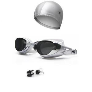 Prescrição Miopia Óculos de Natação Piscina Óculos Homens Mulheres dioptria Esportes Eyewear Kid Swim Cap Set