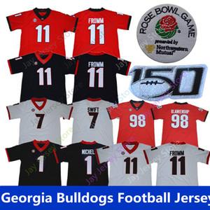 Camiseta de fútbol Georgia Bulldogs 2019 11 Jake Fromm 7 D'Andre DAndre Swift 1 Sony Michel 98 Rodrigo Blankenship Local Visitante Todo cosido